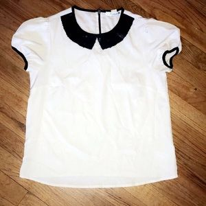 Tan & Black Dress Blouse from Forever 21